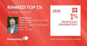 2018 Top 1% Mortgage Originator
