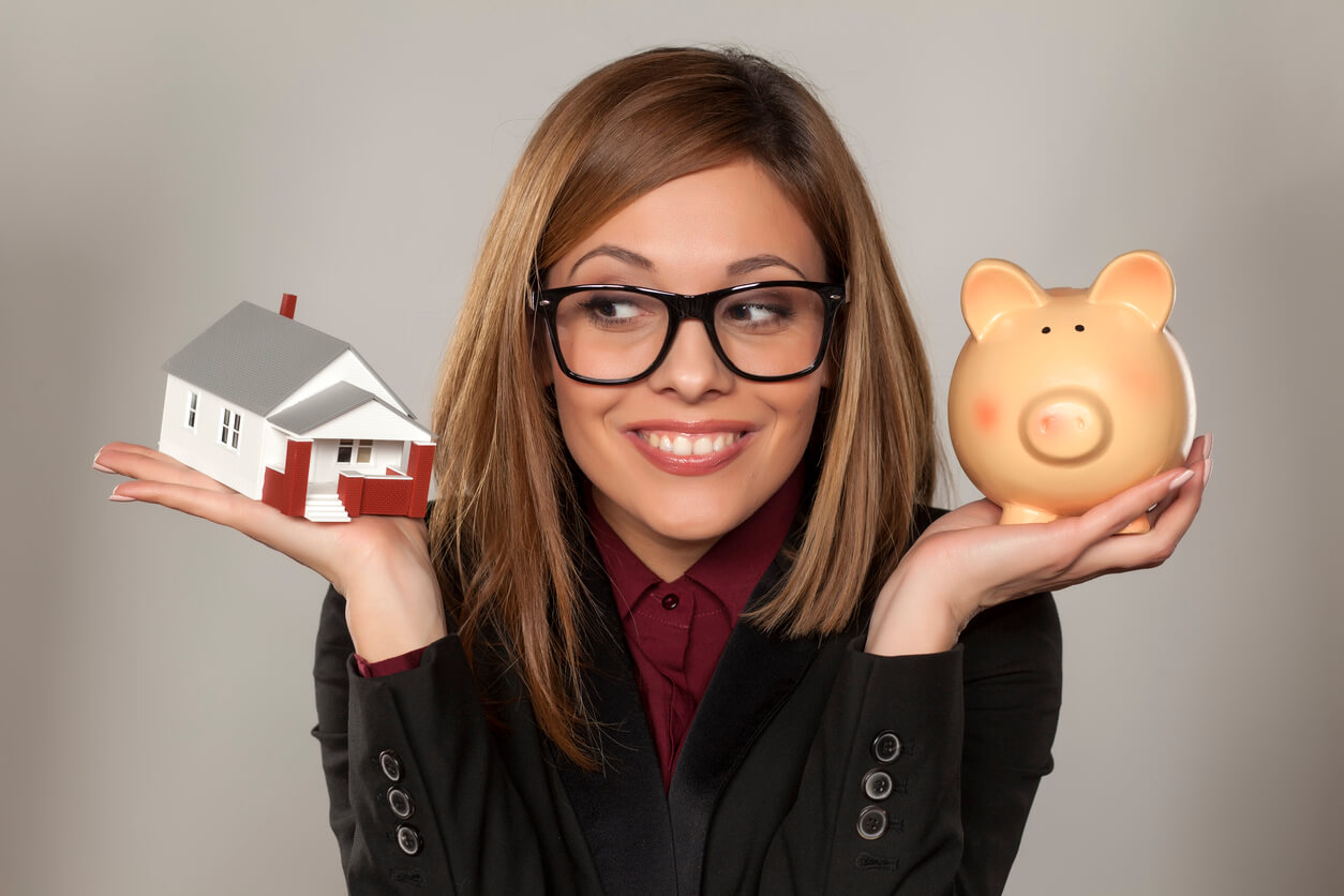 Confident woman thinking about investment properties