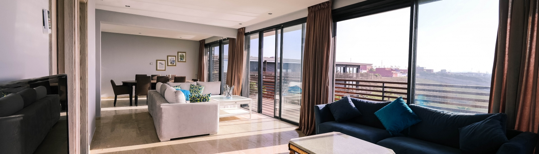large austin condo living room