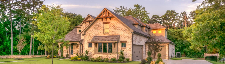 exterior austin house during golden hour
